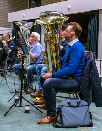 2019-03-24 1e repetitie Arnhems Promenade Orkest Market Garden Memorial 009