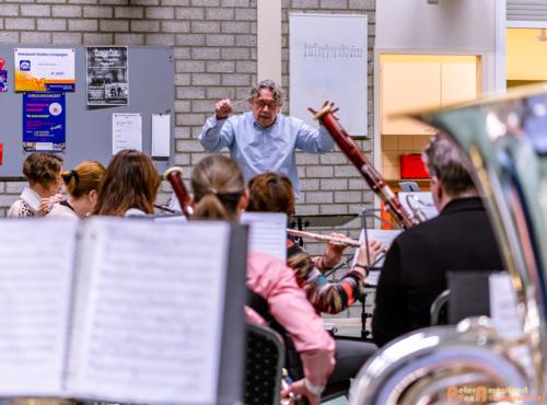 2019-03-24 1e repetitie Arnhems Promenade Orkest Market Garden Memorial 010