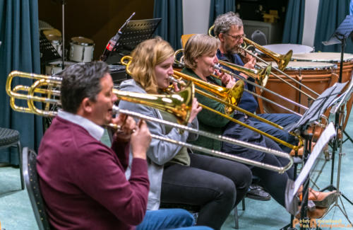 2019-03-24 1e repetitie Arnhems Promenade Orkest Market Garden Memorial 013