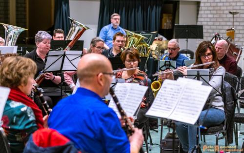 2019-03-24 1e repetitie Arnhems Promenade Orkest Market Garden Memorial 031